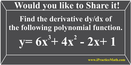 Find the derivative dy/dx