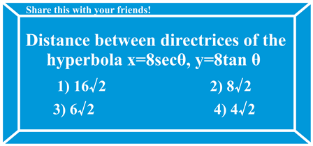 Distance between directrices