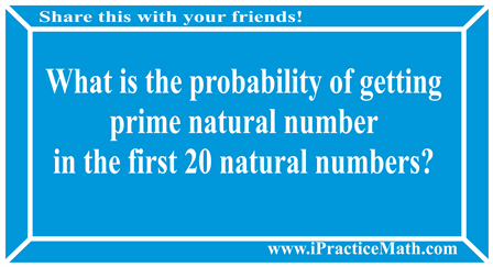 Probability of getting prime natural number