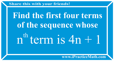 Find the first four terms of the sequence