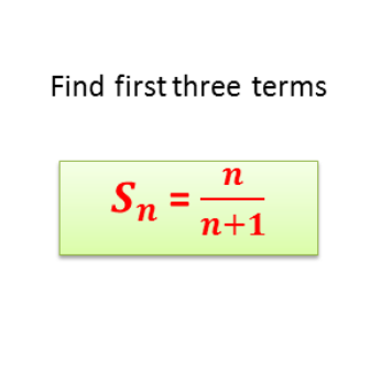 First three terms