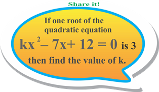Find the value of k