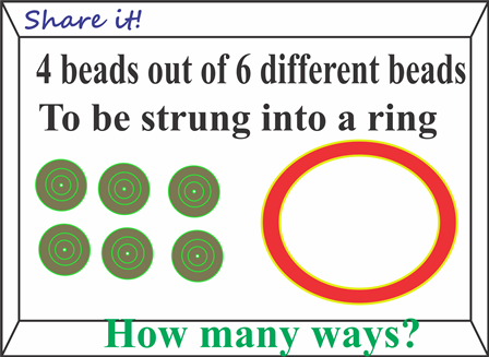 Beads to be strung into a ring