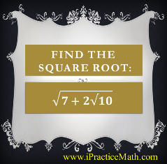 Find the square root