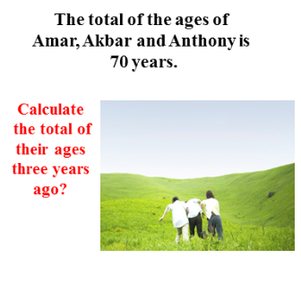The ages of Amar, Akbar and Anthony