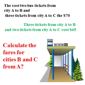 Calculate the fares for cities B and C from A
