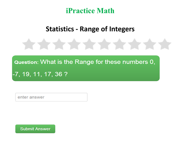 Statistics - Range of Integers