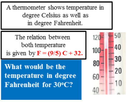 What would be the temperature in degree Fahrenheit?