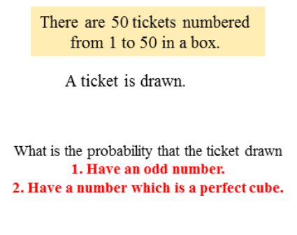 The probability for the ticket drawn