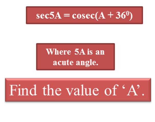 where 5A is an acute angle, find the value of A