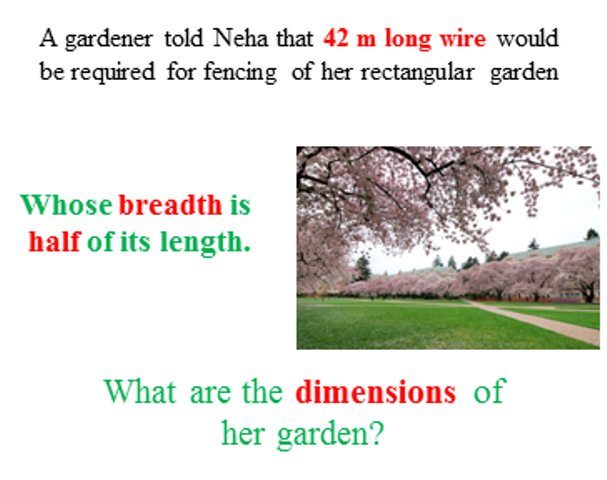 the dimensions of rectangular garden