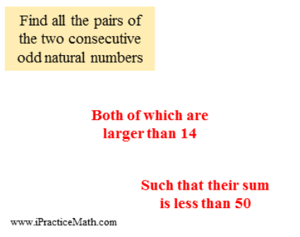the pairs of the two consecutive odd natural numbers