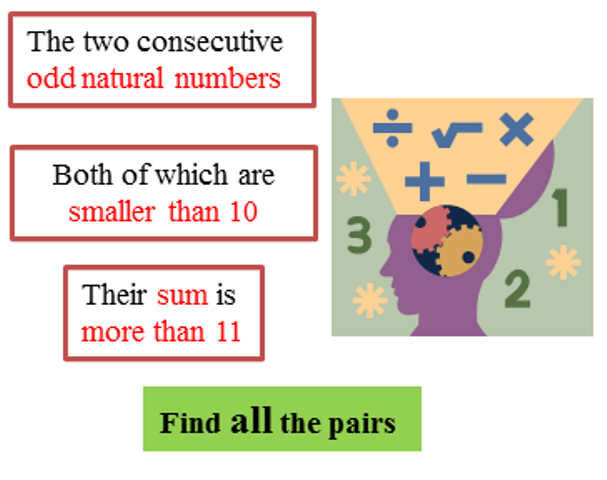 Two consecutive odd natural numbers