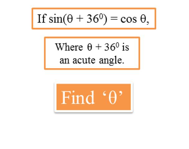Where θ is an acute angle