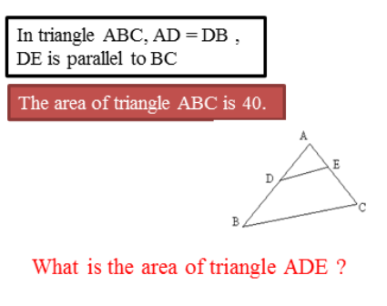 The area of triangle