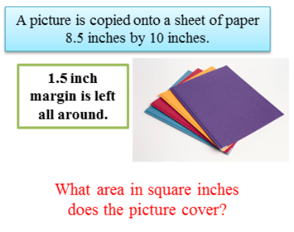 Area in square inches does the picture cover