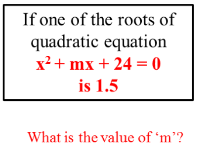 The roots of  quadratic equation