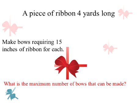 A piece of ribbon