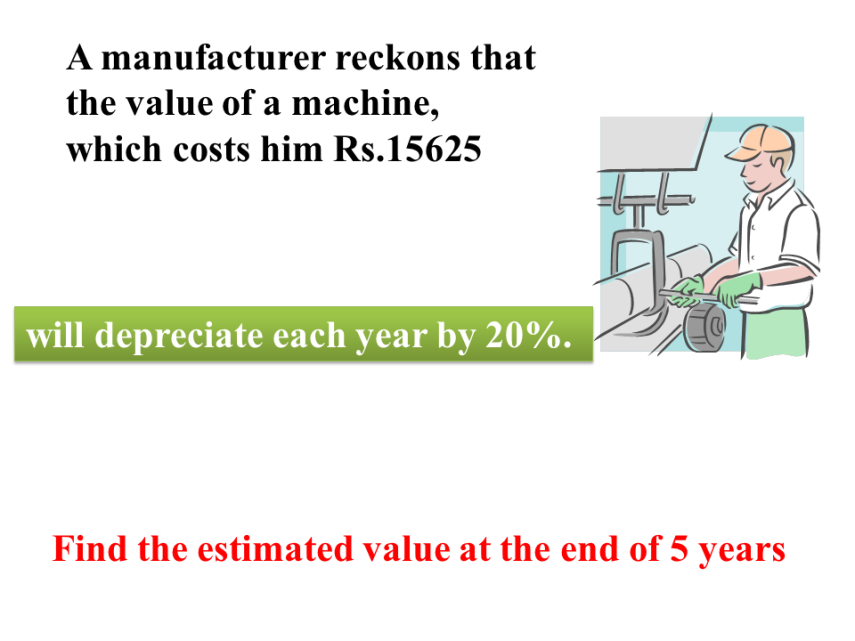 The estimated value  of a machine