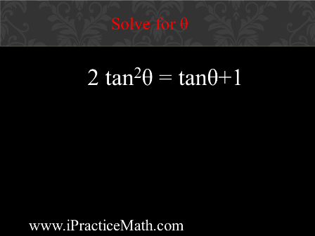 Solve for θ