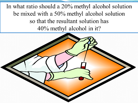 The ratio of resultant solution